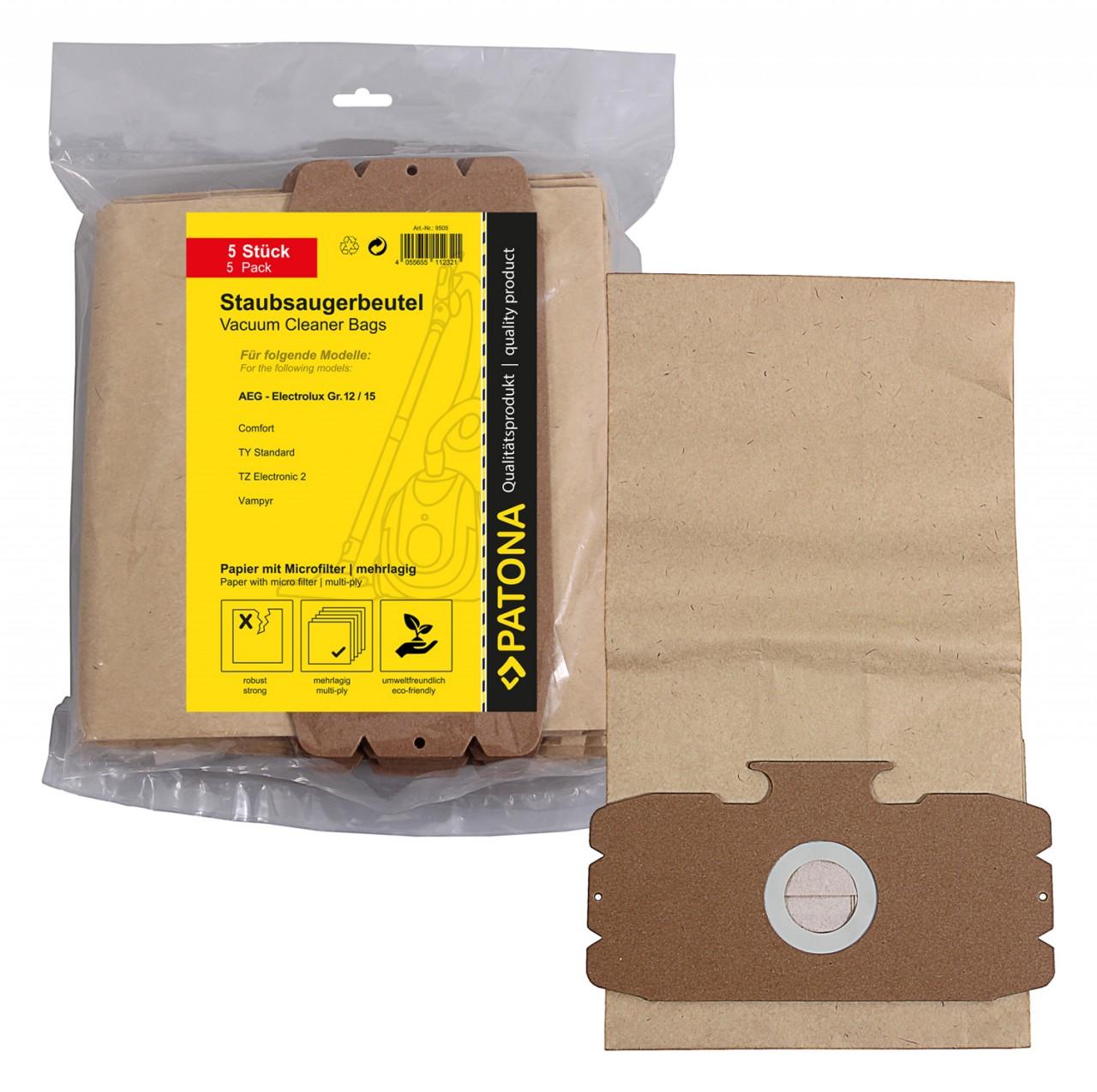 PATONA 5 STOFZUIGER bag multi layer paper incl. Microfilter