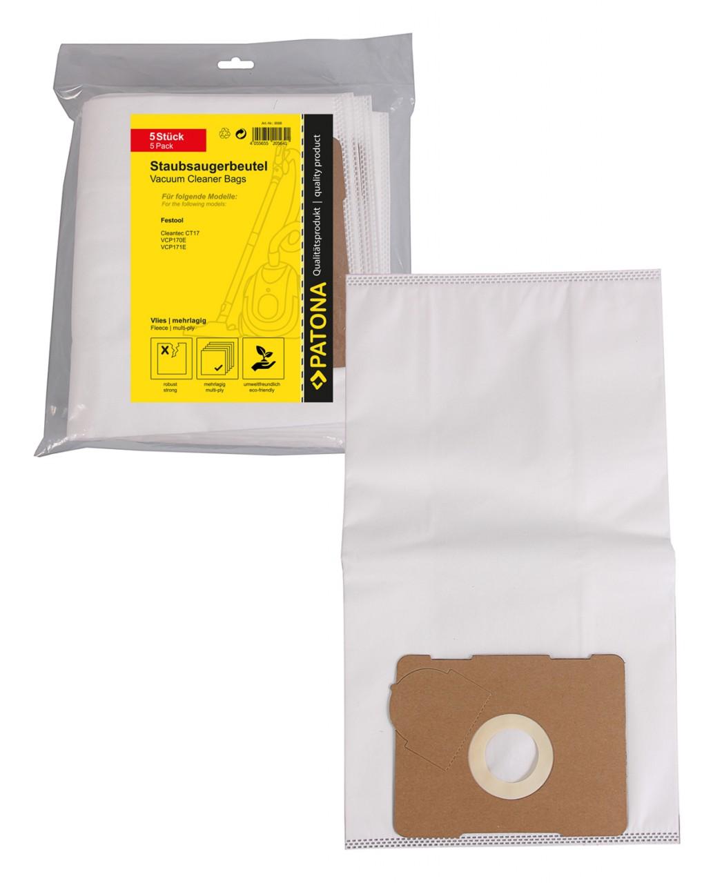 PATONA 5 STOFZUIGER bag multi layer fleece f. Festool Cleant