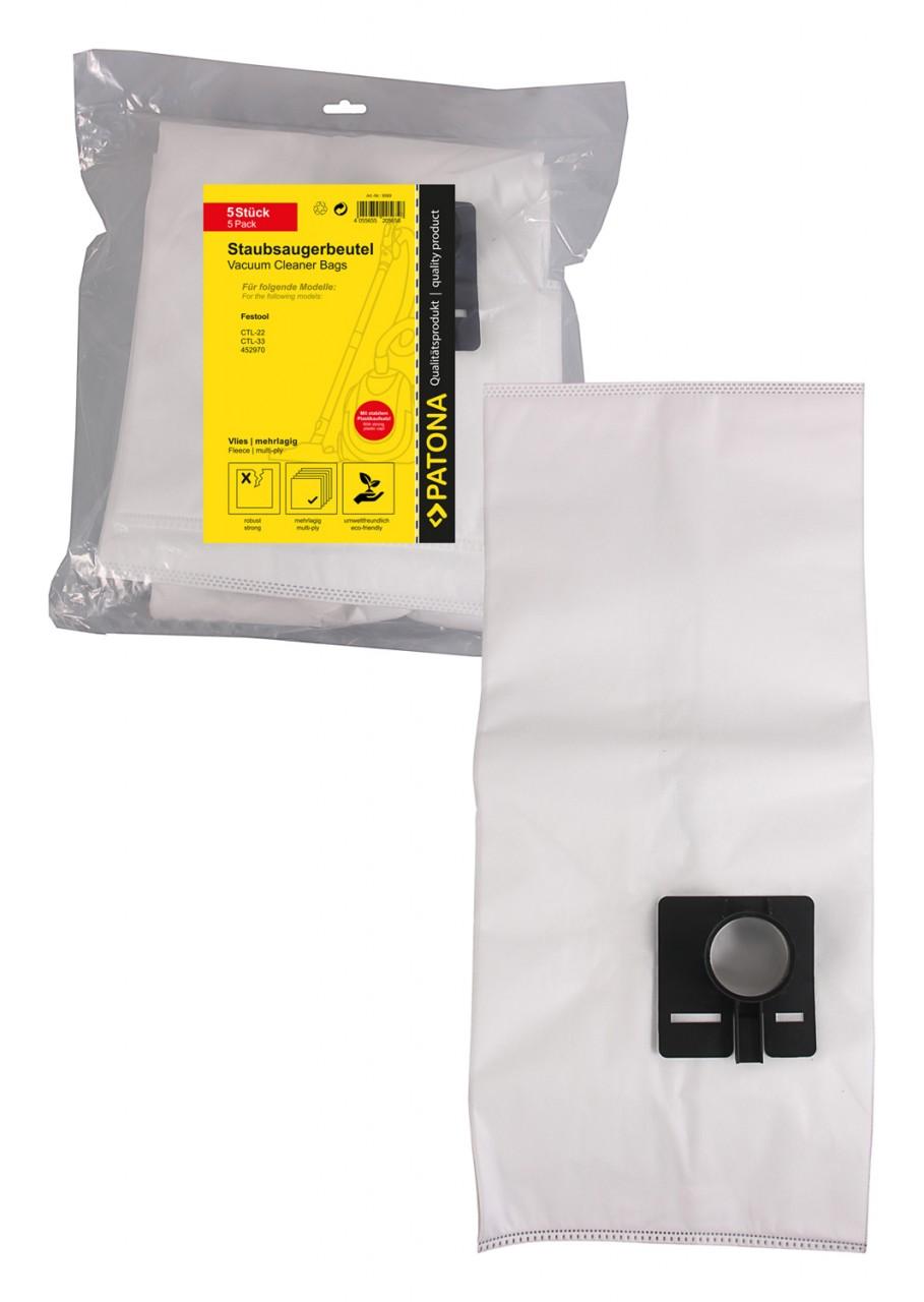 PATONA 5 STOFZUIGER bag multi layer fleece f. Festool CTL-22