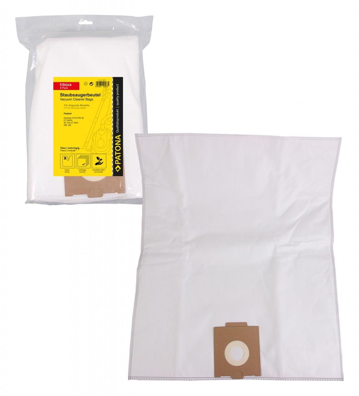 PATONA 5 STOFZUIGER bag multilayered fleece f. Festool CT36