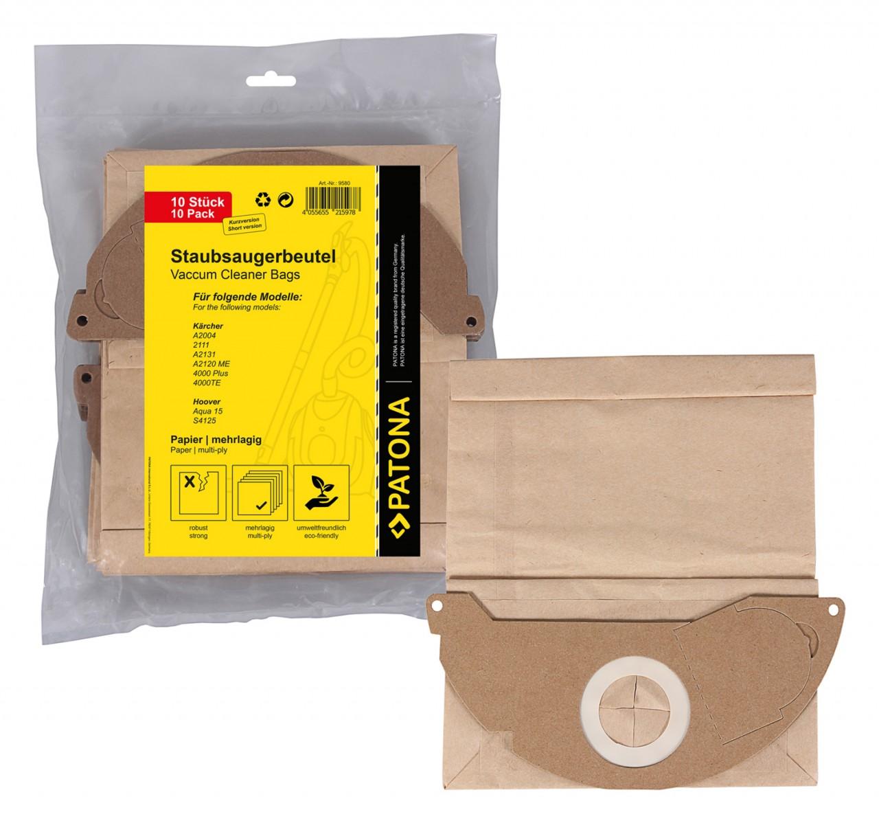 PATONA 10 vacuum paper cleaner bag multilayered f. Kärcher 2