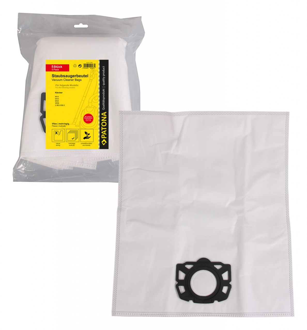 PATONA 5 STOFZUIGER bag multi layer fleece f. Kärcher MV4 MV