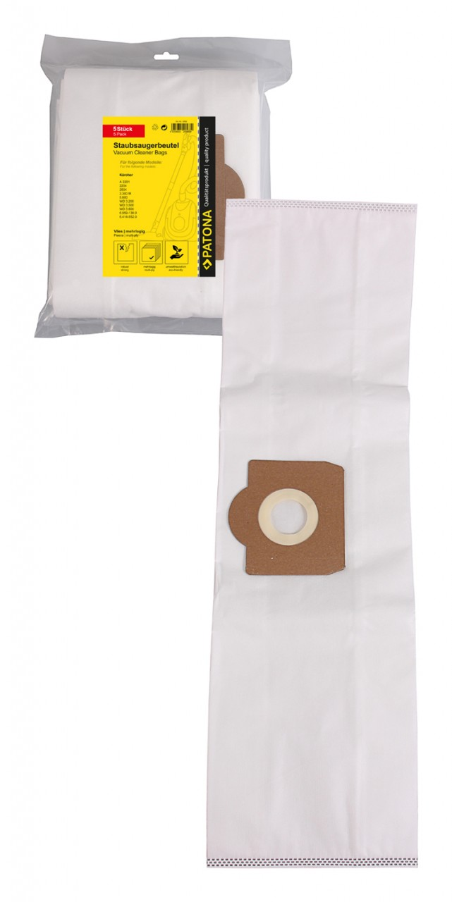 PATONA 5 STOFZUIGER bag multi layer fleece f. Kärcher A 2201