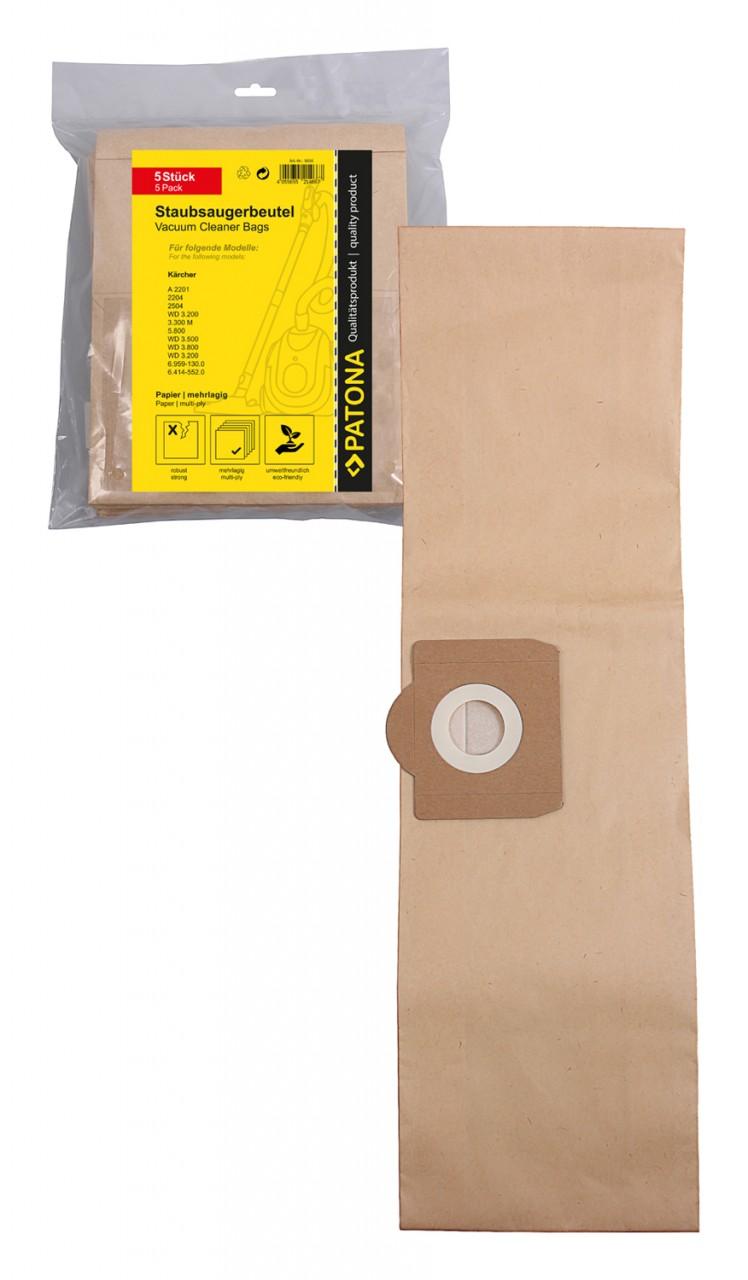 PATONA 5 STOFZUIGER bag multi layer paper f. Kärcher A 2201