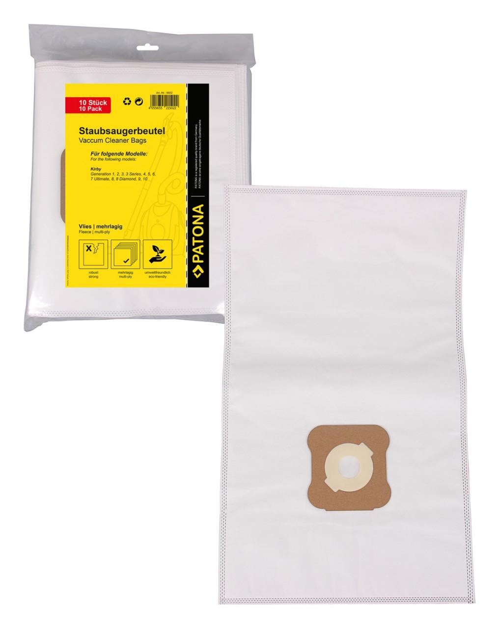 PATONA 10 STOFZUIGER bag multilayered fleece f. Kirby G1 G2