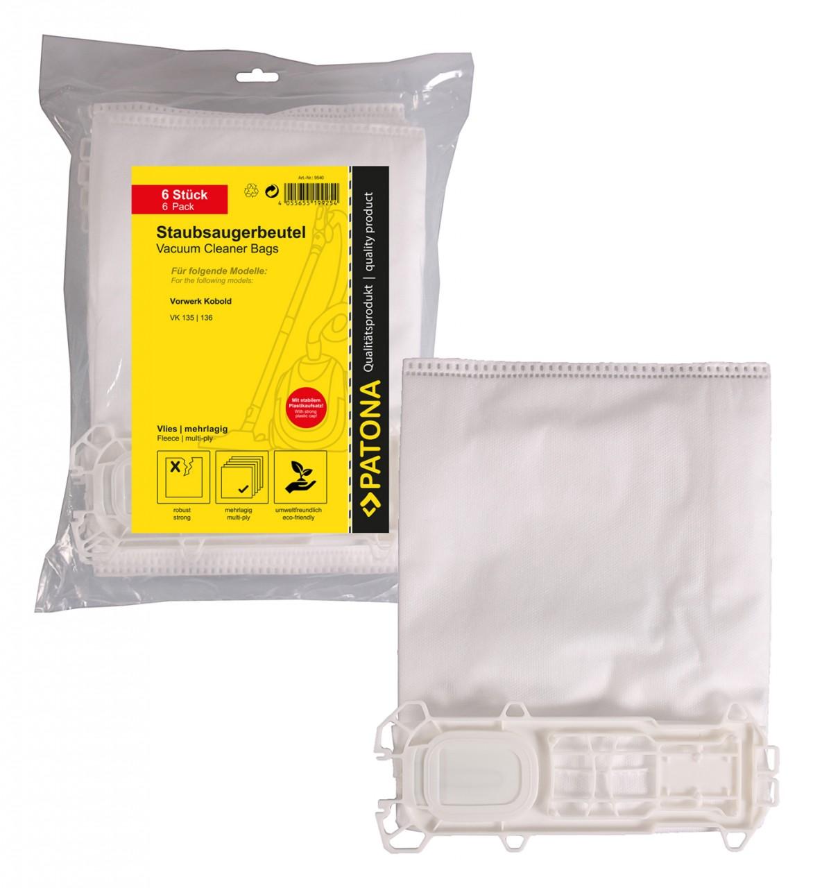 PATONA 6 STOFZUIGER bag multi layer synthetic flees f. Vorwe