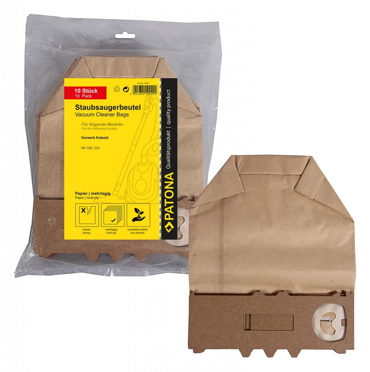 PATONA 10 vacuum paper cleaner bag multilayered f. Vorwerk K
