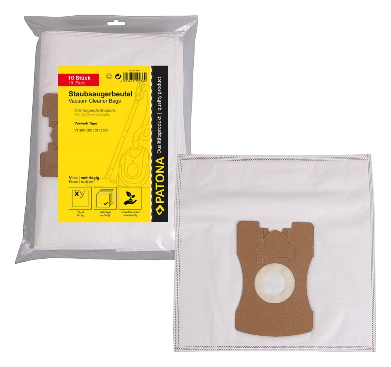 PATONA 10 STOFZUIGER bag multi layer fleece f. Vorwerk Kobol