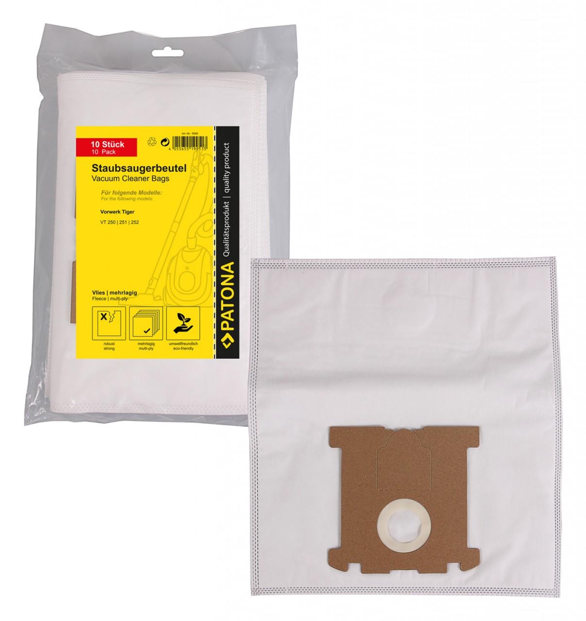 PATONA 10 STOFZUIGER bag multi layer fleece f. Vorwerk Tiger