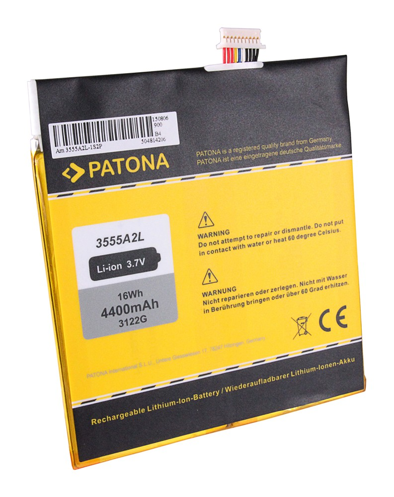 PATONA Battery f. Amazon Kindle Fire, D01400 3555A2L, DR-A0