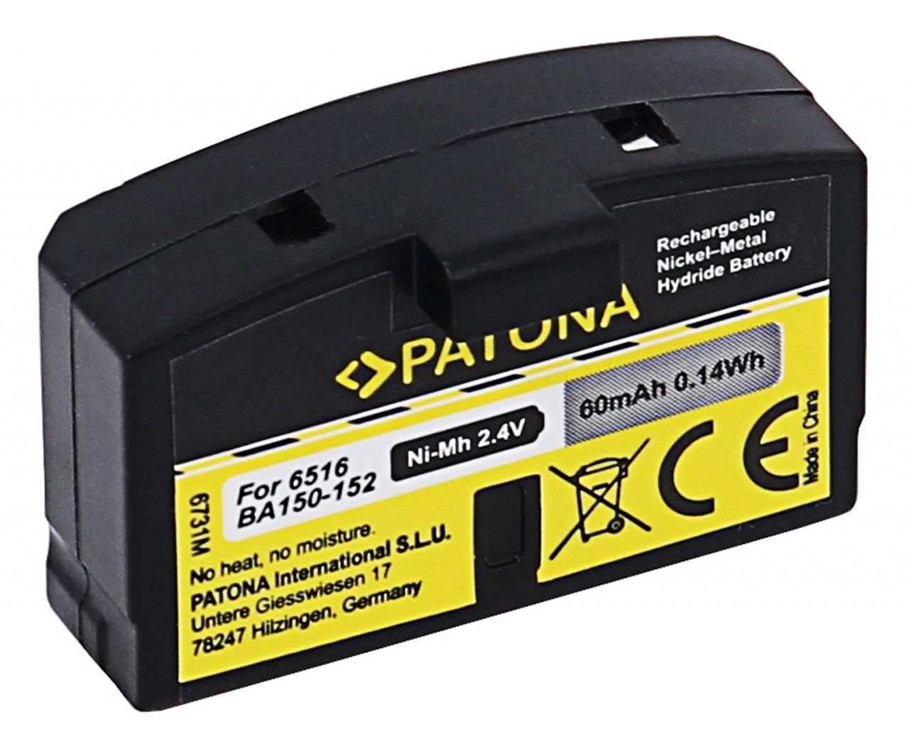 PATONA Battery f. Sennheiser BA150 BA151 BA152 65161