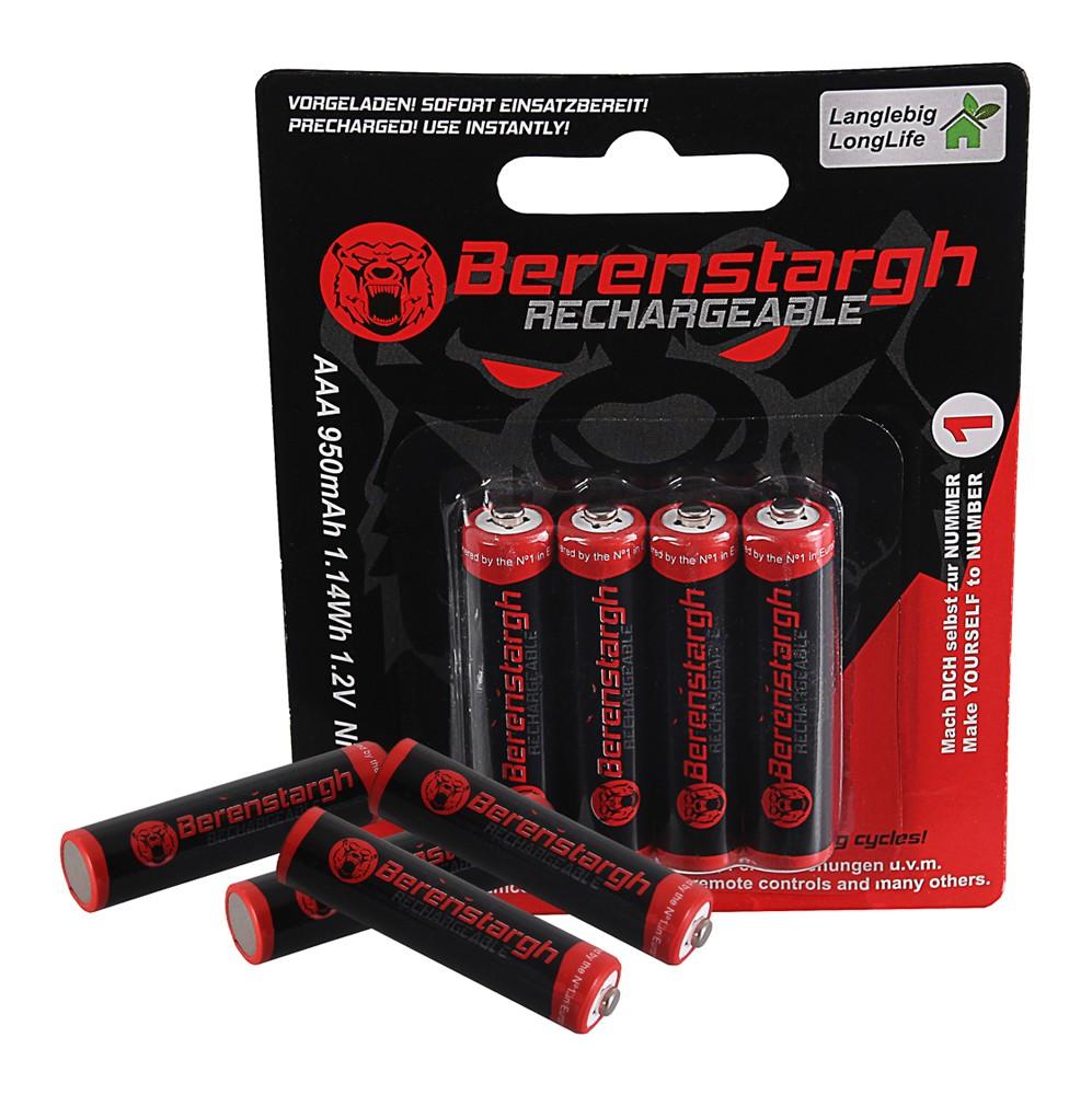 Berenstargh Micro Batteries 4x Akku AAA MICRO LR3 950mAh