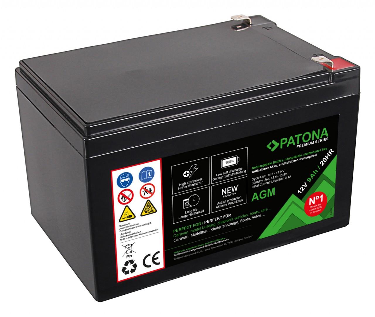 PATONA Premium AGM Lead Battery 12V 12Ah 20HR