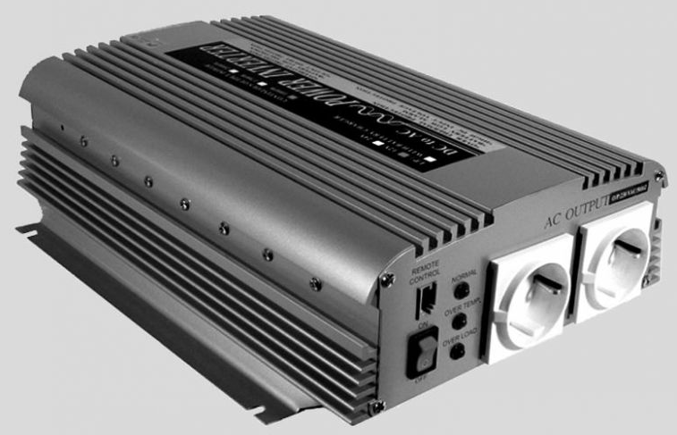 CONVERTER / OMVORMER DC/AC MOD.SINUS 12V/230V 1000W